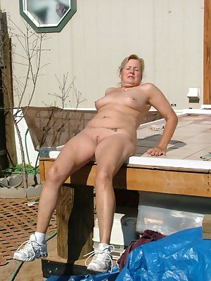 Working and then playing in the sun - shorts and top cum off - tools become toys - enjoy
