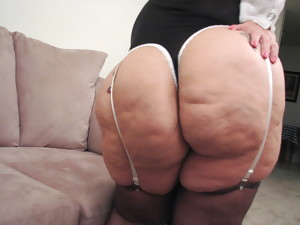 Nasty maid Granny with HUGE ASS shows off