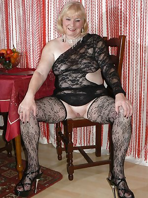Horny grannies in stockings 11