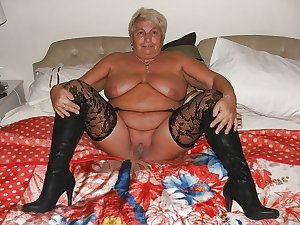 Horny grannies in stockings 11