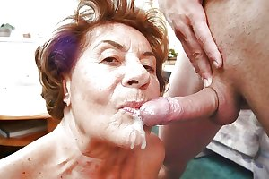 Grannies mature milf blowjob handjob sucking 6