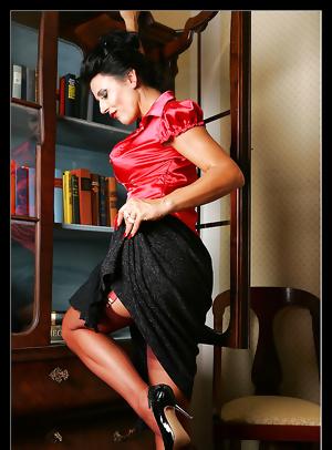 Stylish older lady work and leisure