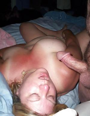 Chubby Wife Marie Blowjob & Facials
