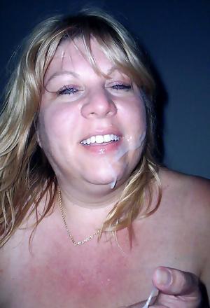 Chubby Wife Marie Blowjob & Facials