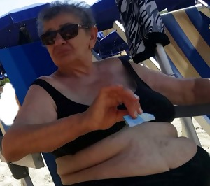 Holidays in Calabria, suspicious old woman.
