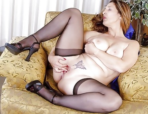 Horny matures in stockings 33
