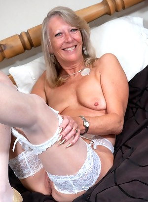 this blonde granny nympho loves those two cocks