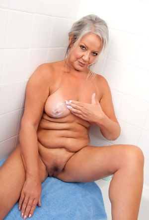 Naked Granny women relaxing in the sauna