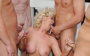 Granny slut fucked by a way younger dude