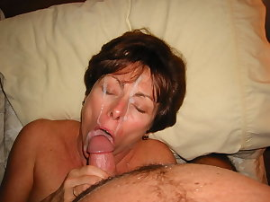Naughty and horny Granny slut playing with her dildo