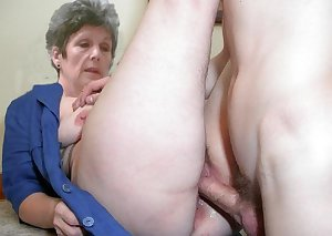 Granny lesbian slave gets some action
