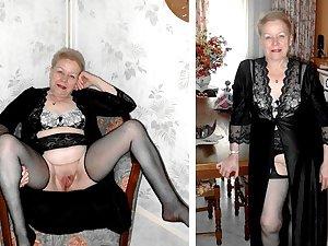 Granny lesbian slave gets some action