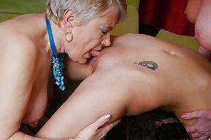 Lesbian granny fucks lesbian mom and lesbian girl PART 3