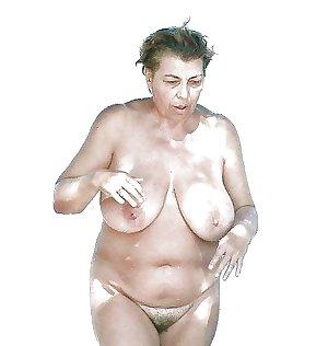 Granny her saggy tits 1.
