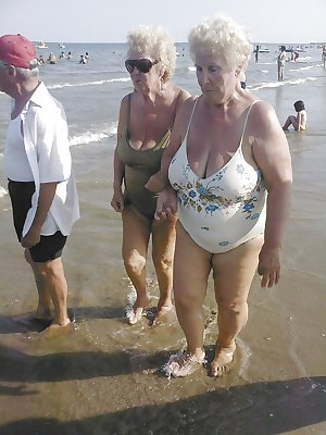 Grannies on beach 2