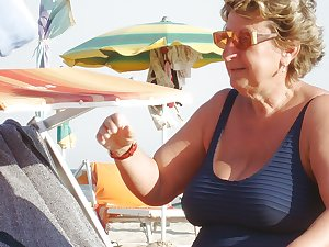 Grannies on beach 2