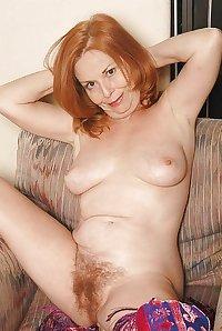 Redhead granny Hairy
